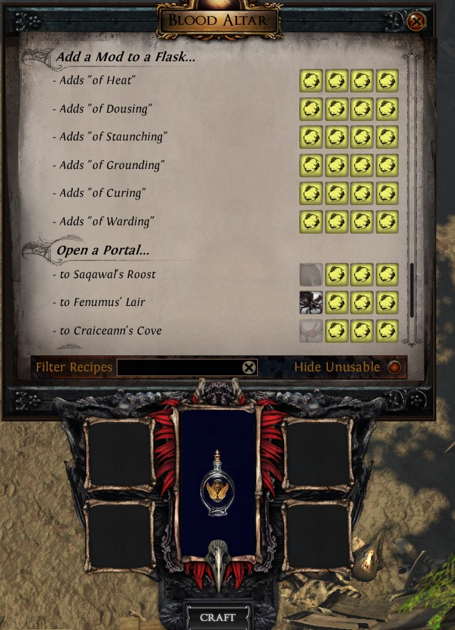 path of exile tips and tricks beast crafting flasks