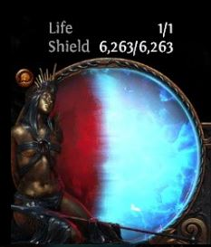 path of exile tips and tricks energy shield build health globe