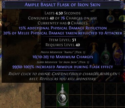 path of exile tips and tricks crafted flask item level