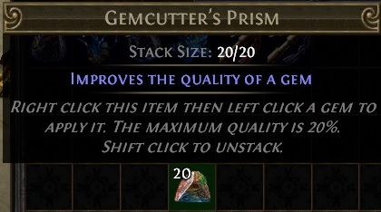 Gemcutter's Prism Path of Exile