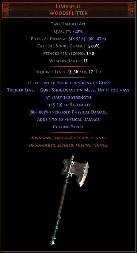 Limbsplit Path of Exile Best Leveling Unique 3.11