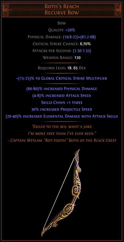 Roth's Reach Path of Exile Best Leveling Unique 3.9