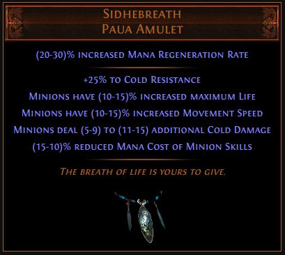 Sidhebreath Path of Exile Best Leveling Unique 3.8