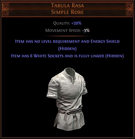 Tabula Rasa Path of Exile Best Leveling Unique