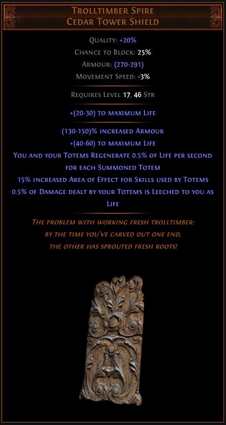 Trolltimber Spire Path of Exile Best Leveling Unique