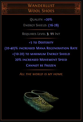 Wanderlust Path of Exile Best Leveling Unique
