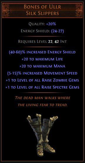 Bones of Ullr Path of Exile Best Leveling Unique